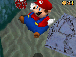 This is a picture of Mario floating around like a stupid, stupid balloon.  Pity him and all that he stands for.